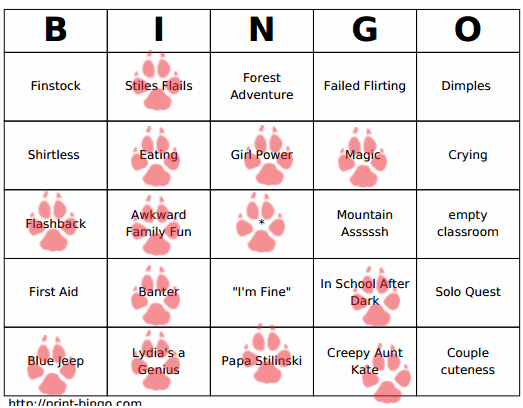TW bingo week two winnter